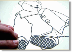 Tactile image of a teddy bear